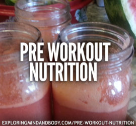 pre workout nutrition