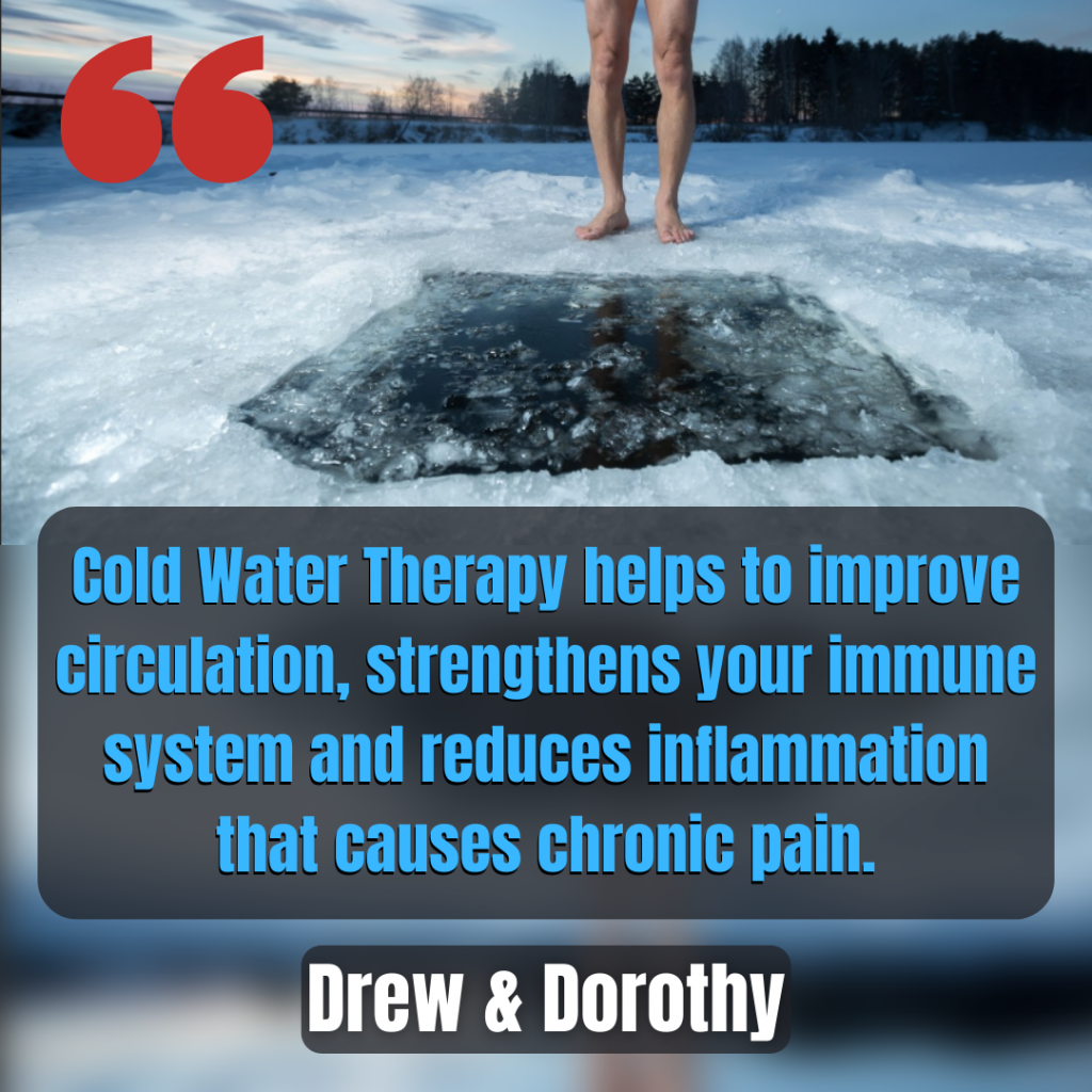 Cold water therapy helps to improve circulation